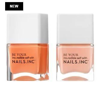 Nails Inc マニキュア Nails Inc限定☆Kiss My Peach Duo Nail Set(2)
