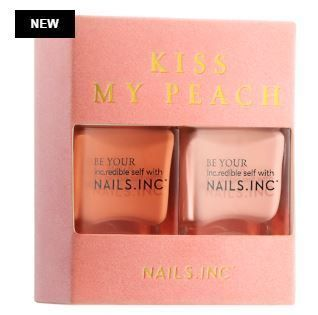 Nails Inc マニキュア Nails Inc限定☆Kiss My Peach Duo Nail Set(3)
