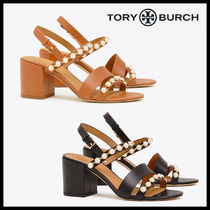 Tory Burch EMMY MID-HEEL PEARL SANDAL サンダル レザー 関税込