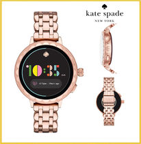 セール!Scallop Rose Gold-Tone Stainless Steel Touchscreen