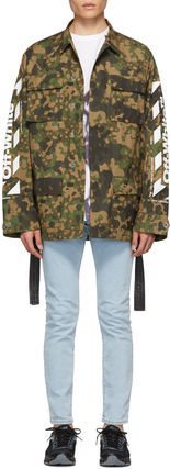 = Off-White = CAMOUFLAGE DIAG FIELD JACKET 迷彩ジャケット 緑