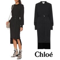 CHLOE Cashmere midi dress Black