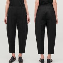 """COS"" DART-DETAILED COTTON TROUSERS BLACK"