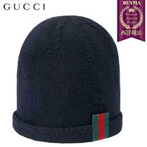【正規品保証】GUCCI★19春夏★BABY KNITTED HAT WITH WEB