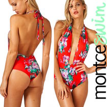 Red Floral Private Beach One Piece☆Montce Swim☆新作