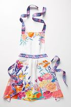 ★Anthropologie★華やか花柄プリントエプロン Paint and Petals Apron