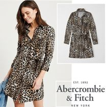 Abercrombie&Fitch*国内発送(追跡有)送関込*レオパードワンピ