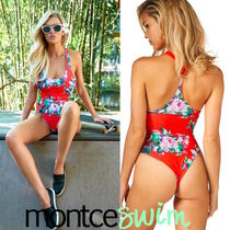 Red Floral Classic One Piece☆Montce Swim☆国内配送!
