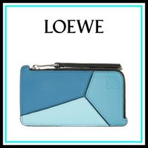 loewe Puzzle Coin/Card Holder blue multitone