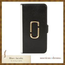 SALE【marc jacobs】JJロゴ 手帳型iPhone XRケース Black