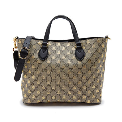 9d66a66d3ea ... GUCCI トートバッグ 正規品 GUCCI GG SUPREME BEES TOTE ショッパーバッグ 送料 ...
