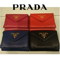 【OUTLET】PRADA☆三つ折り財布 1MH021_2EZZ☆VITELLO MOVE☆4色