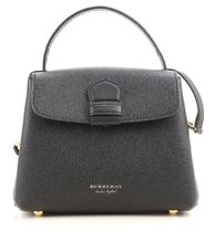 【 Burberry 】Derby Leather House Check SM Camberley Tote 黒