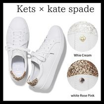 Keds x Kate Spade ☆ leather and glitter sneakers(11451)