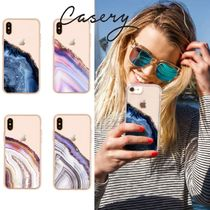 Pink & Blue Agate iPhone X/Xs Case casery 送料無料