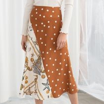 "& Other Stories(アンドアザーストーリーズ) スカート ""& Other Stories"" Polka Dot Seashell Satin Midi Skirt"