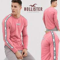 Hollister Co.(ホリスター) Tシャツ・カットソー SALE【Hollister】長袖 袖ロゴ トップス ピンク / 送料無料