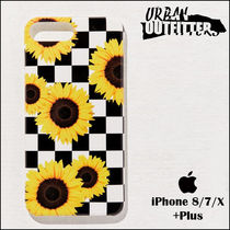 Urban Outfitters☆ ヒマワリ&チェック柄♪ iPhoneケース☆