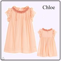 Chloe☆KIDS GIRL ビスコースクレープdress pink 2-3Y
