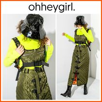 Oh Hey Girl(オーヘイガール) トップスその他 新作!日本未入荷*Oh Hey Girl☆Green Quilted Utility Crop Top