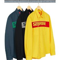 1 WEEK Supreme SS 19 Racing Logo Work Shirt