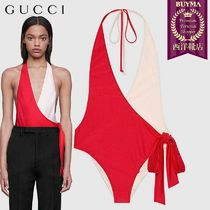 【正規品保証】GUCCI★19春夏★LYCA SWIMSUIT_ROSSO&BIANCO