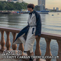 ASCLO★韓国の人気★OVERFIT CARBAN TRENCH COAT 2色