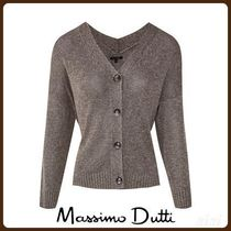 MassimoDutti♪KNITTED CARDIGAN WITH V-NECK DETAIL