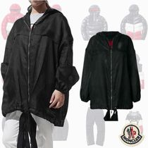 MONCLER GAMME ROUGE ウインドブレーカー Black ロゴ入り シルク