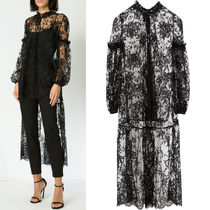 19SS AM520 SARABANDE LACE TOP WITH HIGH-LOW HEM DETAIL
