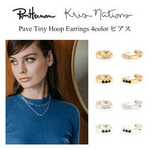 正規品 国内発送 Ron Herman 取扱 Kris Nations Pave Tiny Hoop