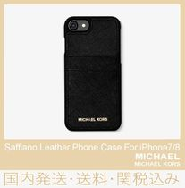 34e8232403 【セール/国内発送】Saffiano Leather Phone Case For iPhone7/8