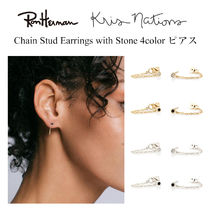 Ron Herman 取扱 Kris Nations Chain Stud Earrings with Stone