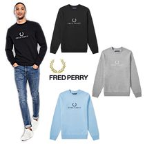 FRED PERRY(フレッドペリー) スウェット・トレーナー 新作★Fred Perry Logo Sweat★フレッドペリー ロゴスウェット