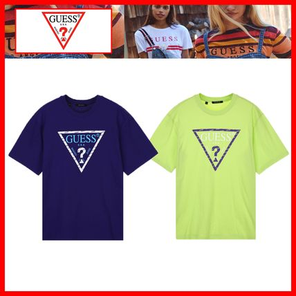 Guess Tシャツ・カットソー 韓国の人気【GUESS】▽ ロゴ Street Semi Over 半袖Tシャツ☆2色