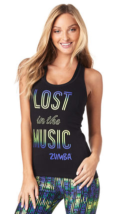 ZUMBA ヨガ・フィットネスその他 【即納 S】Zumba Lost In The Music Racerback ズンバタンク