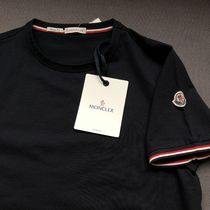 【MONCLER】19SS Striped-trim stretch-cotton T-shirt (NAVY)