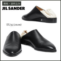 【JIL SANDER】 TWO-TONE LEATHER LOAFERS レザー シューズ 22cm