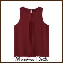 MassimoDutti♪TOP WITH FRONT PLEAT