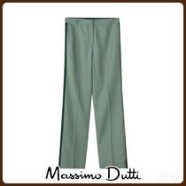 MassimoDutti♪WIDE FIT TROUSERS WITH SIDE STRIPES