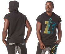 ◆3月新作◆MENS◆I Want My Zumba Sleeveless Hoodie(Black)