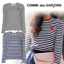 COMME des GARCONS(コムデギャルソン) Tシャツ・カットソー 《大人気》COMME des GARCONS Play ボーダーロンT Ladies