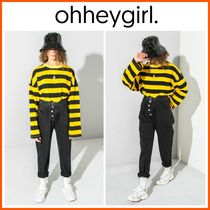 Oh Hey Girl(オーヘイガール) パンツ 新作!日本未入荷*Oh Hey Girl☆Black Button up Mom Jeans