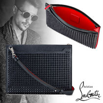 Christian Louboutin Skypouch スタッズ クラッチバッグ 2WAY