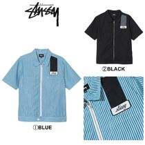 【STUSSY】☆2019-SS新作☆ZIP UP WORK SHIRT