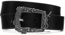 ★関税負担★SAINT LAURENT★TEXTURED-LEATHER BELT