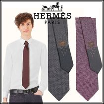 ☆HERMESエルメス☆ネクタイ ヘヴィシルクタイH Puzzle tie