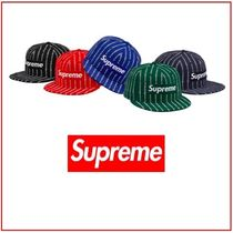 Supreme/New Era Text Stripe Black Red Royal Dark Green Navy