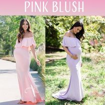 PINKBLUSH(ピンクブラッシュ) マタニティドレス・フォーマル 【PINK BLUSH】 Ruffle Off Shoulder Mermaid Maternity gown