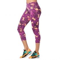 ★国内在庫 ズンバ I Want My Zumba Crop Leggings Purple Power